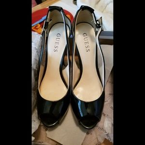 Guess black pumps stilettos size 7